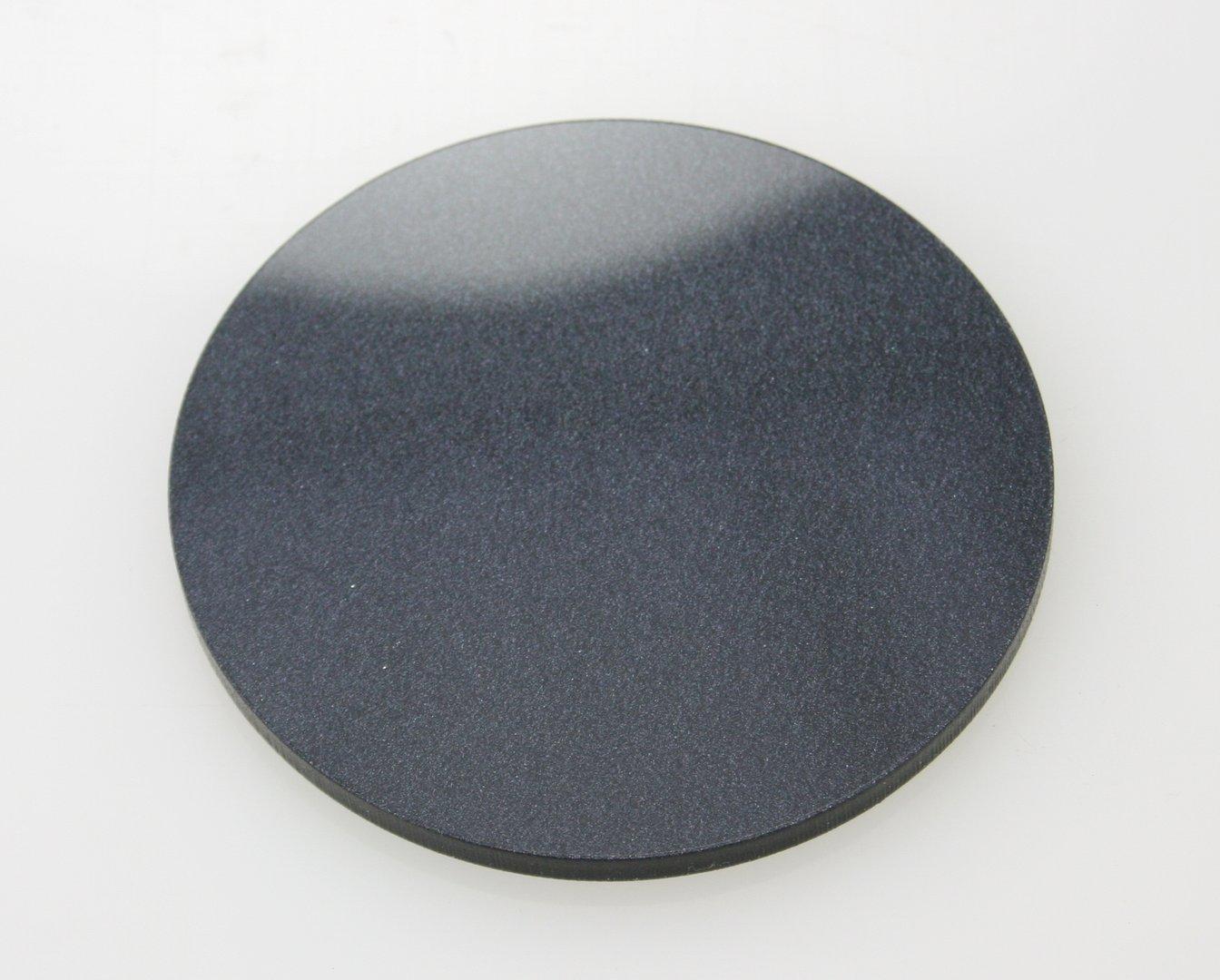 Metallic Black Acrylic Discs Southern Acrylics