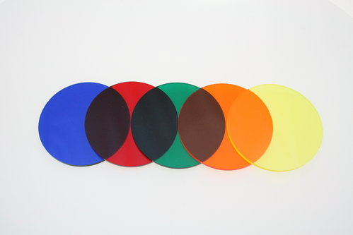 Transparent Coloured Discs