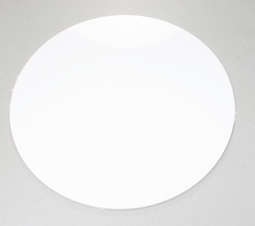 White Acrylic Disc Circles