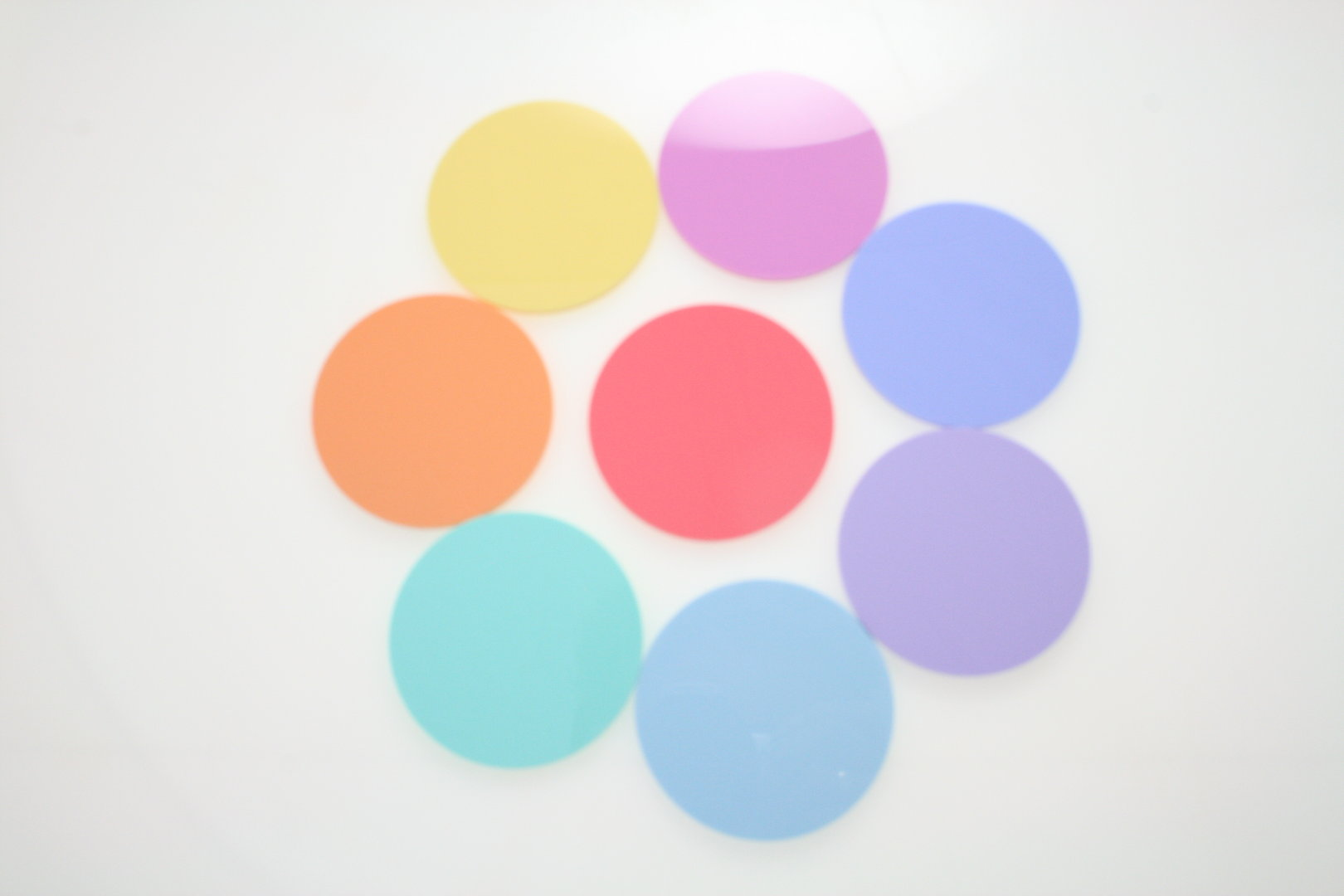 Pastel Coloured Discs Southern Acrylics
