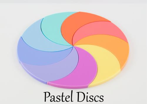 Pastel Coloured Discs