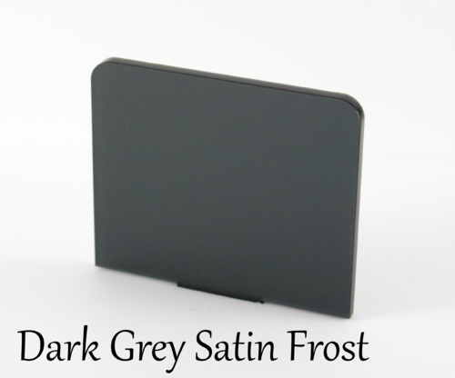 Dark Grey Frosted Acrylic