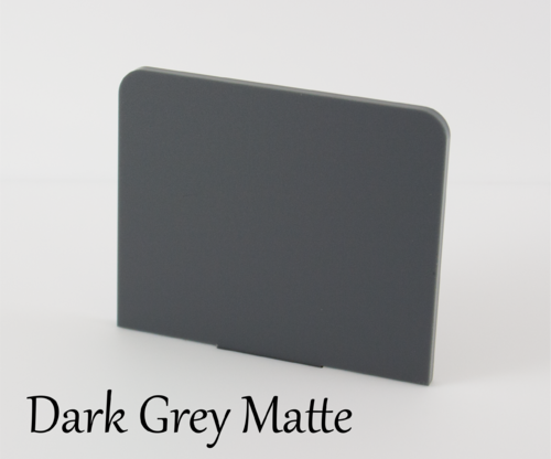 Dark Grey Matte Acrylic