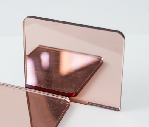 Rose Gold Mirror Acrylic Sheets