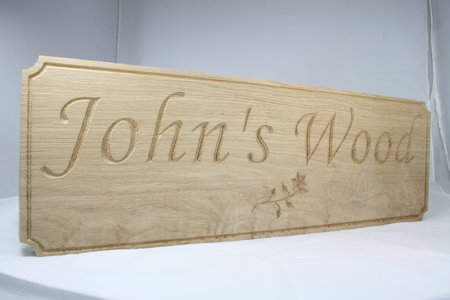 CNC Engraved Sign in Oak\\n\\n30/05/2015 15:15